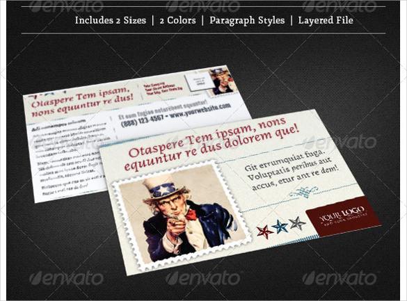political postcards templates