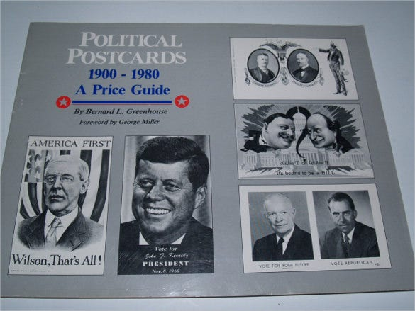black and white political postcards