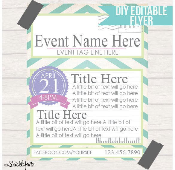 digital download diy printable postcard style event poster