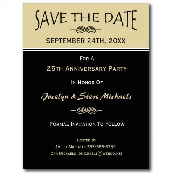 reunion party event postcard template