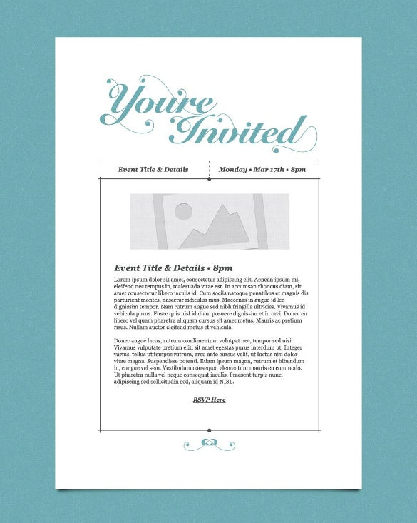 12 exceptional email invitation templates free sample