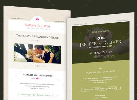 smart wedding invitation email templates