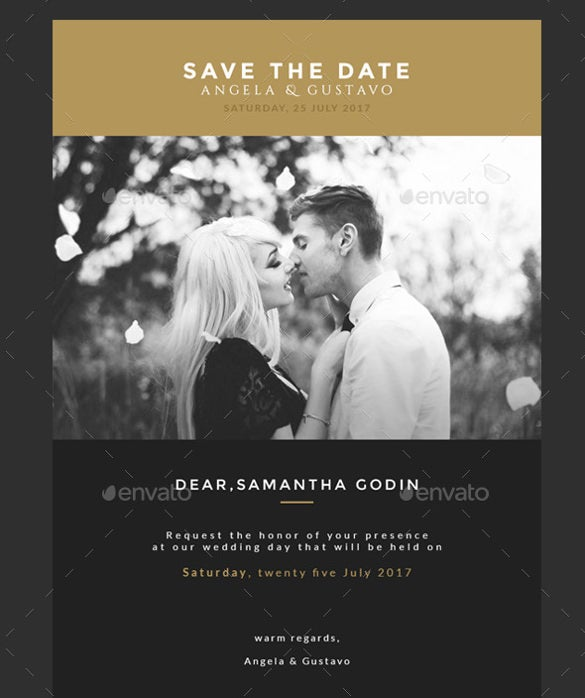 save the date wedding invitation email template