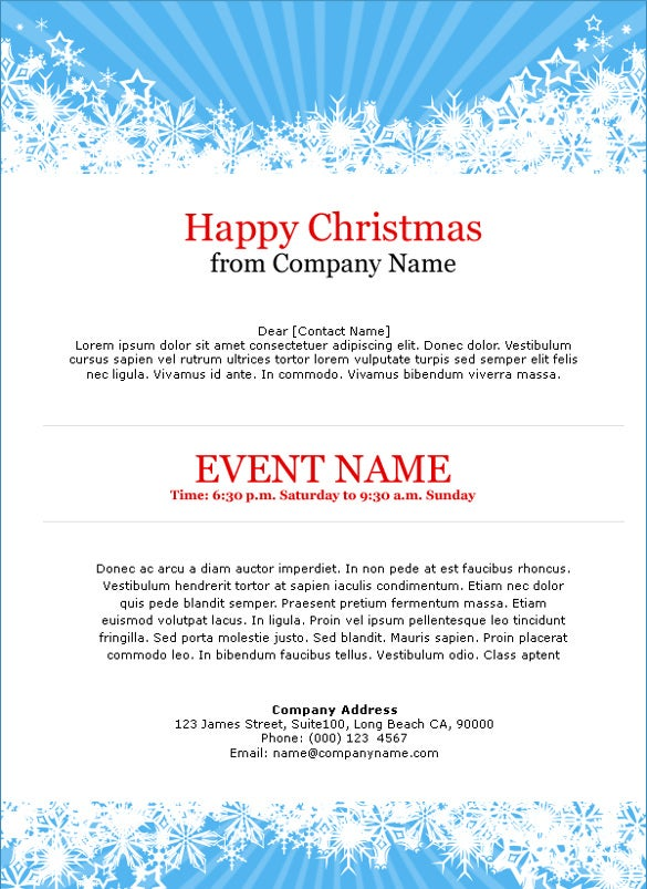 blue christmas invitation template