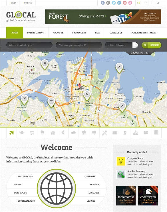 company directory listing wordpress php template