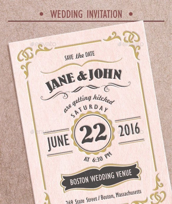 Superb Vintage Wedding Invitation Wording And RSVP Format
