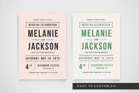 customize wedding invitation wording template download