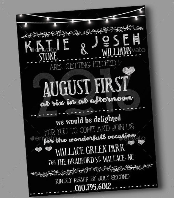 black and white wedding invitation wording template