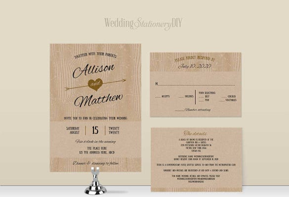 High Quality Barn Simple Wedding Invitation Wording Template