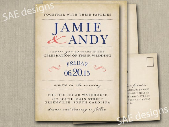 28  Wedding Invitation Wording Templates – Free Sample, Example ...