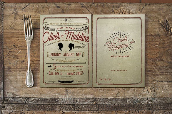 vintage hand lettering wedding invitation wording template download