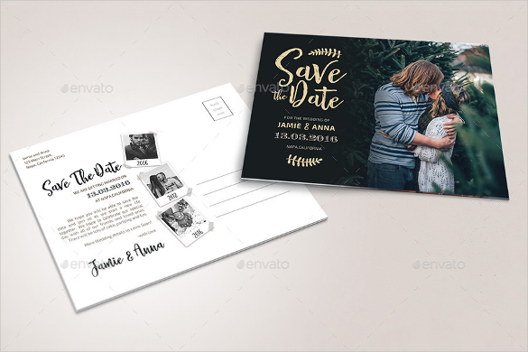 save the data postcard photoshop psd - Free Save The Date Postcard Templates