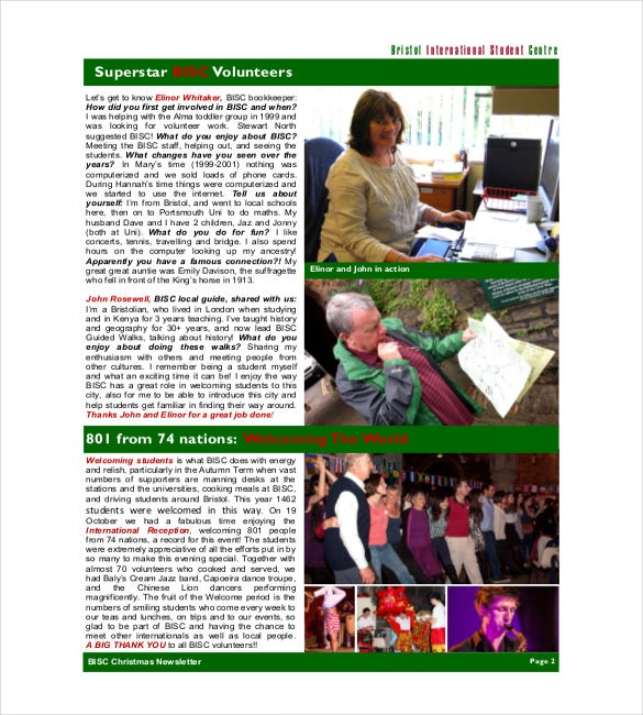 christmas family newsletter
