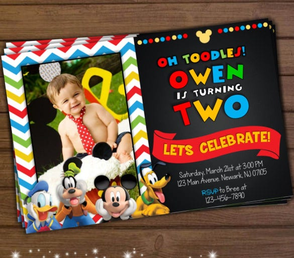 Mickey Mouse Invitation Templates  Free Sample Example Format