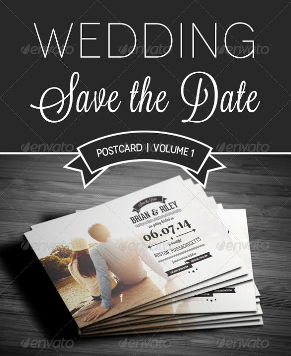 save the data postcard for wedding