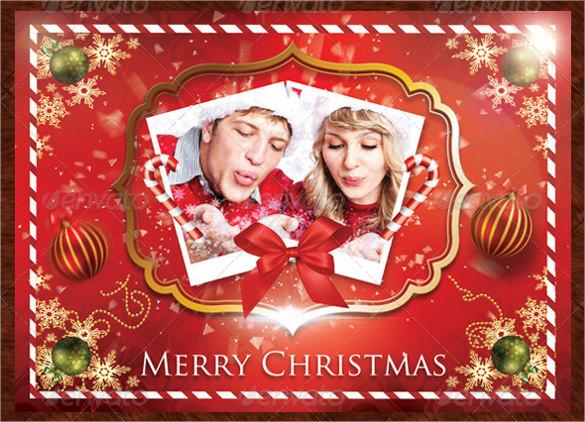 holiday photo postcard template