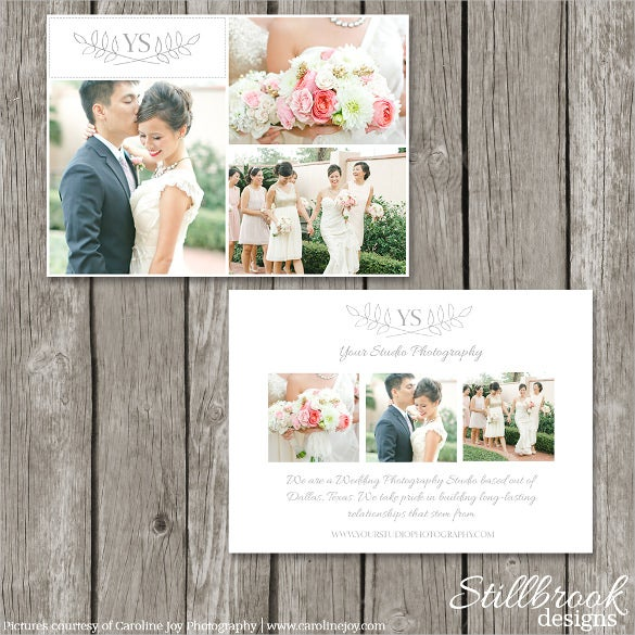 wedding marketing card photography postcard