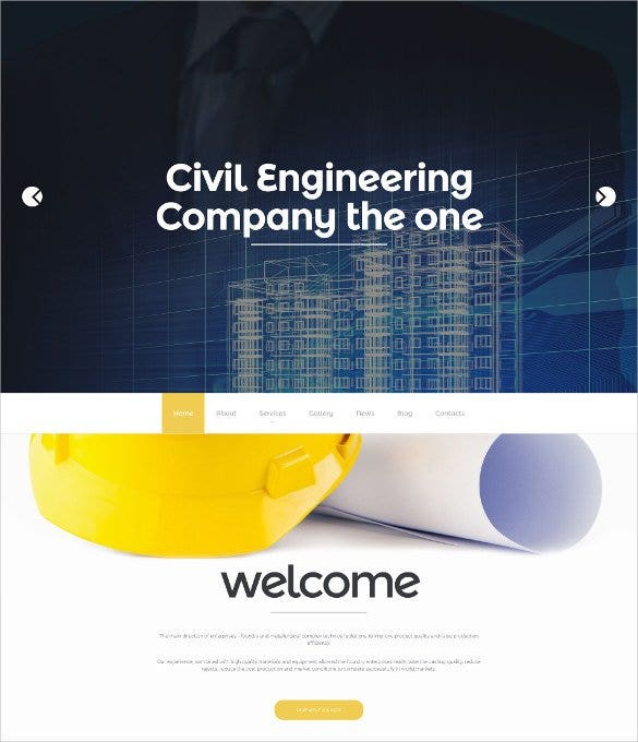 civil engineering responsive admin panel moto cms