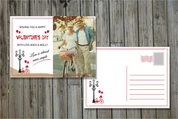 valentines day photo postcard