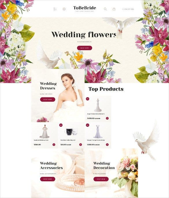 wedding flowers opencart admin panel template1