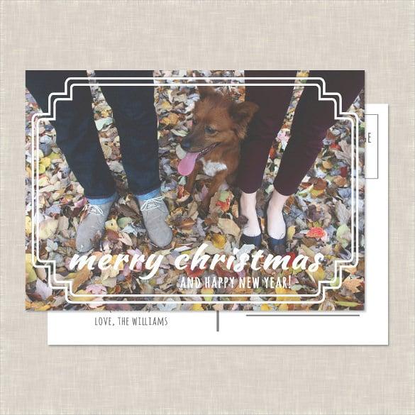 elegant christmas photo postcard