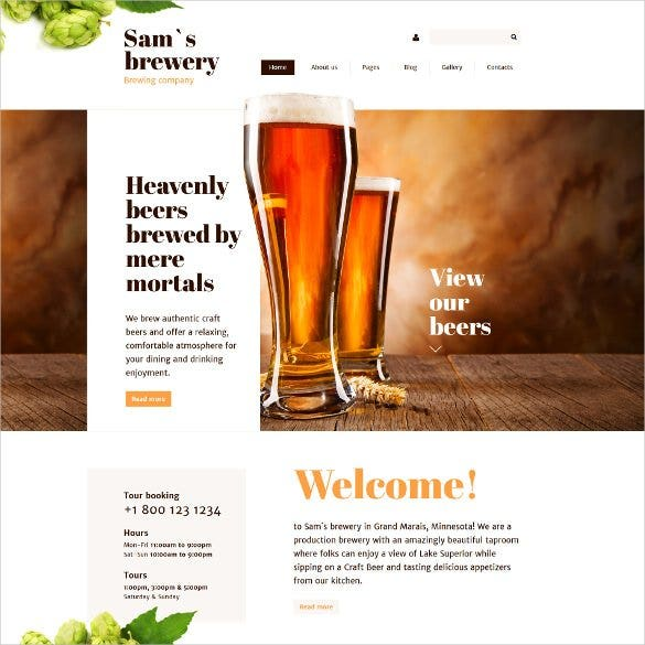 brewery joomla admin panel template1