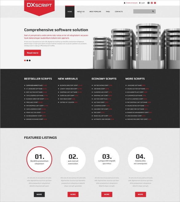 Software Company Directory Listing Website Template