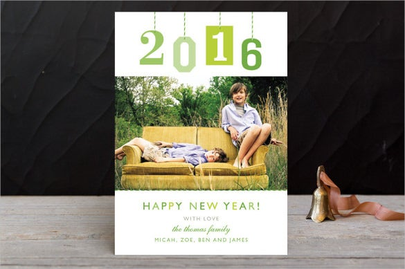 new year gift tag holiday postcards