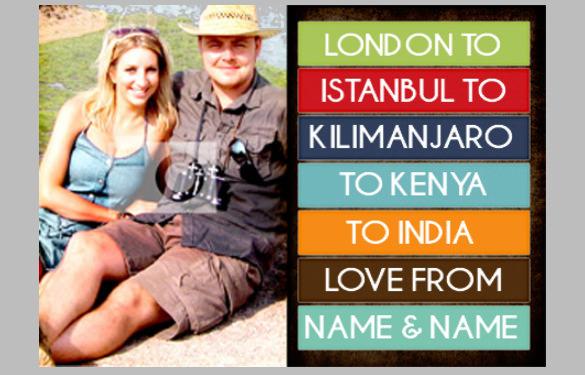 happy st travel photo postcard