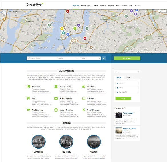 corporate portal directory wordpress website template