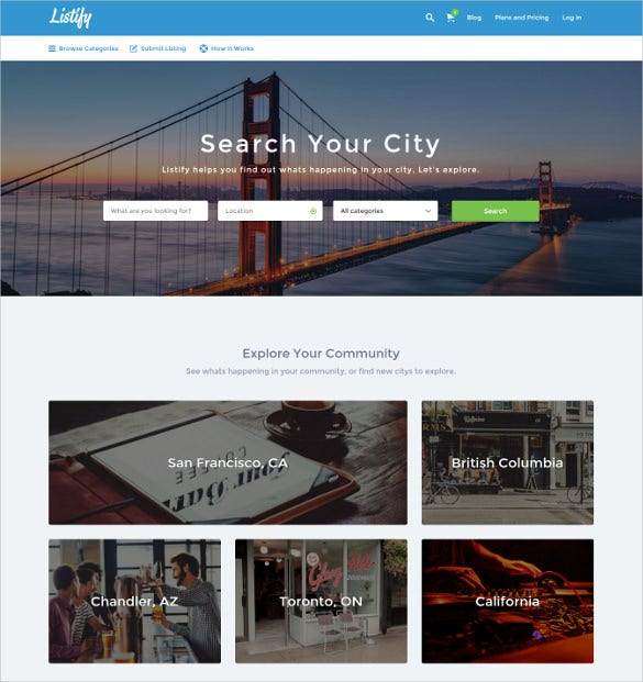 21+ Directory & Listing Website Themes & Templates | Free & Premium ...