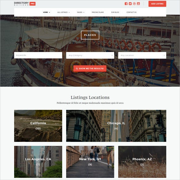 directory builder pro wordpress website theme