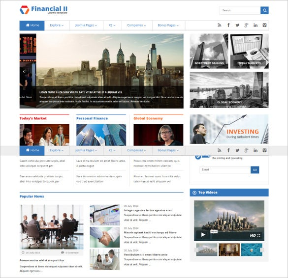 Financial Directory Listing Website Template