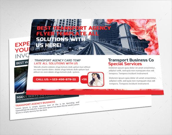 public relations company postcard psd