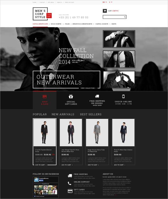 corporate apparels prestashop template