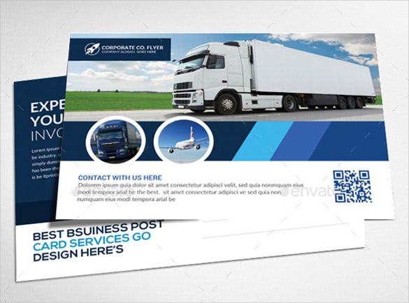 transport business postcards psd