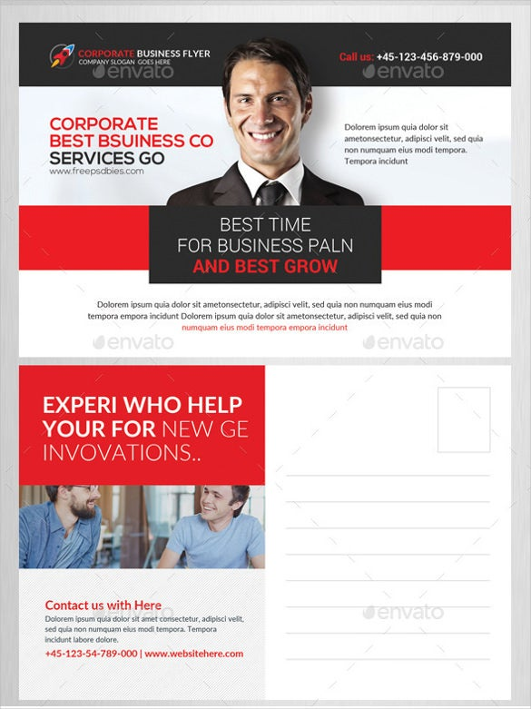 company postcard psd bundle