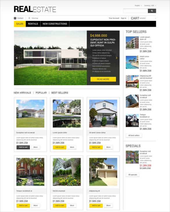 corporate real estate business prestashop theme