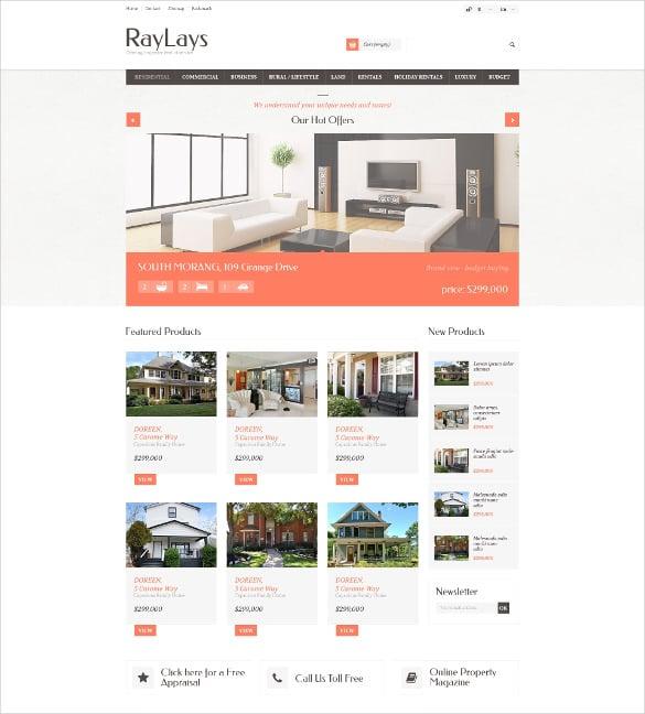 corporate responsive real estate store prestashop theme