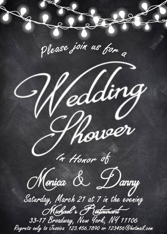 27+ Wedding Shower Invitation Templates – Free Sample, Example Format Download!  Free & Premium