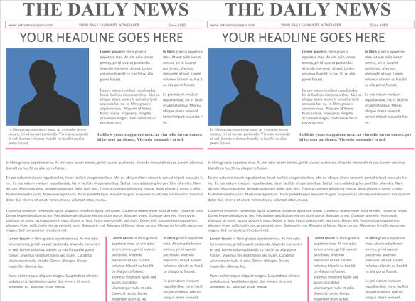 Newspaper Word Template  CityEsporaCo