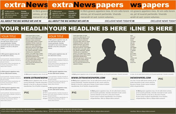 news paper word template free download