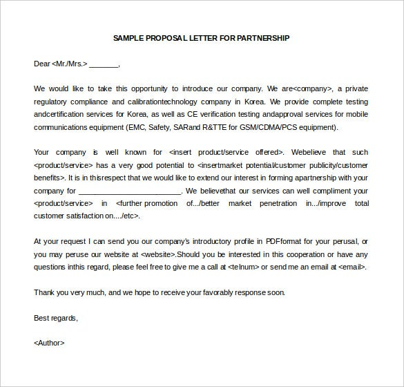 10 business letter of intent templates free sample example sample of business letter of intent in business partnership spiritdancerdesigns Image collections