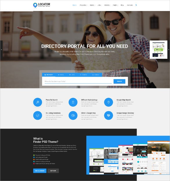 business directory listing psd template