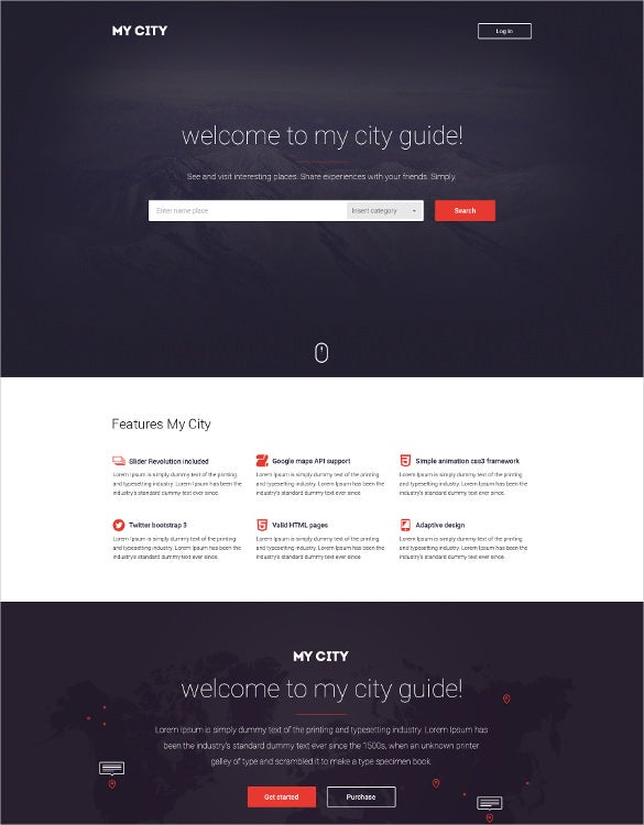 html directory psd template