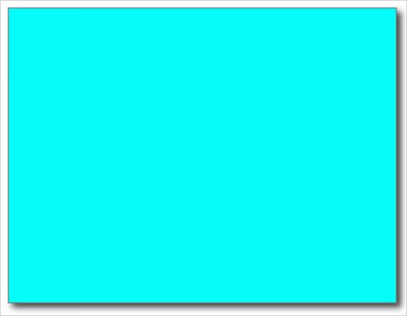 neon aqua blue bright blank postcard