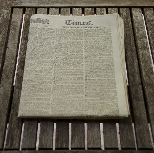old vintage newspaper template download