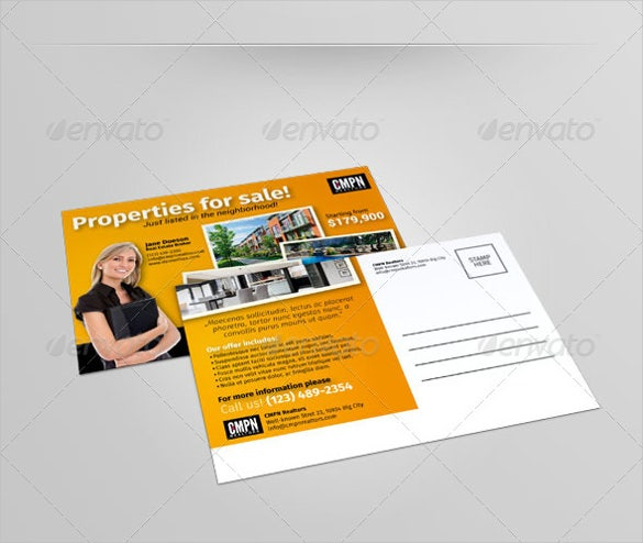 advertisement postcard template
