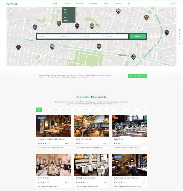 institutions directory listing psd template