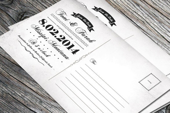 vintage postcard template download